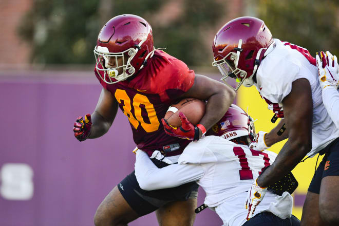 Redshirt sophomore running back Markese Stepp remains one of the most intriguing Trojans in 2020.