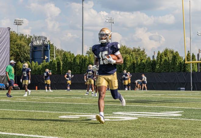 Notre Dame Fighting Irish football sophomore wide receiver Jordan Johnson