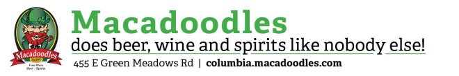 Macadoodle's provides fine wine, beer and spirits in Columbia. Click on the logo above to browse their selection and stock up today.