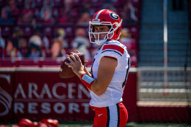 JT Daniels is expected to start against Mississippi State. (UGA Sports Communications)