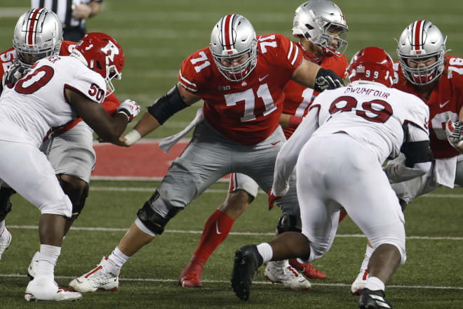Josh Myers and Ohio State's starting offensive tackles are among the players that will miss the Buckeyes' matchup with MSU.