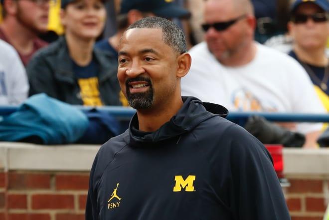 Michigan Wolverines basketball coach Juwan Howard