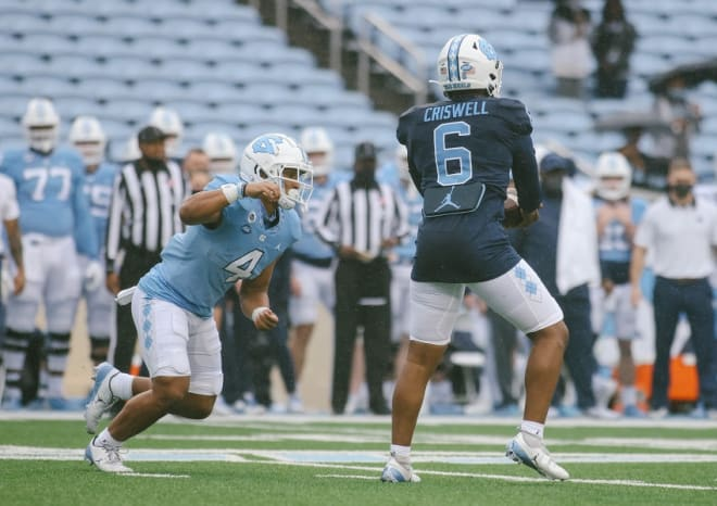 Freshman Caleb Hood is among the candidates to continue UNC's recent ground game surge.