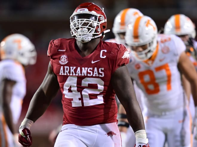 Jonathan Marshall is one of Arkansas' three first-team All-SEC selections by Pro Football Focus.