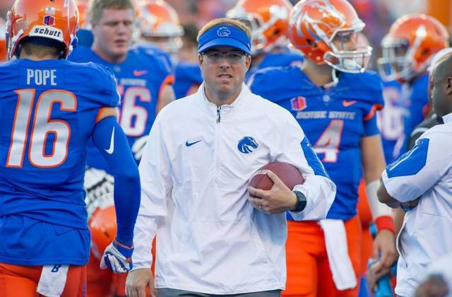 Drinkwitz got his first college offensive coordinator job at Boise State at the age of 31.