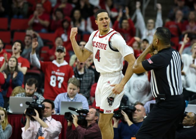 NC State Wolfpack basketball Jericole Hellems