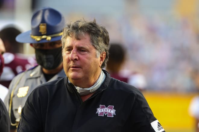 Mississippi State Bulldogs football head coach Mike Leach