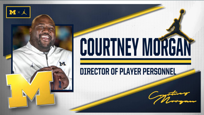 Michigan Wolverines football head coach Jim Harbaugh hired former U-M offensive lineman Courtney Morgan as the team's Director of Player Personnel.