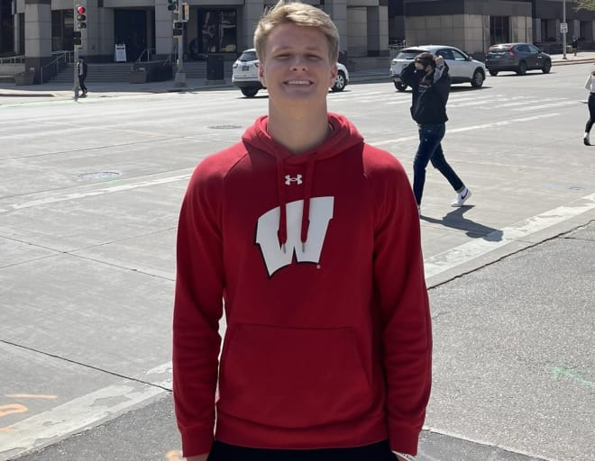 Three-star wide receiver Tommy McIntosh committed to Wisconsin in June.