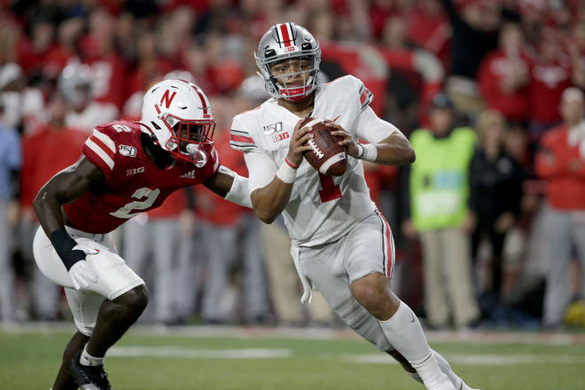 Nebraska will open at Ohio State, and they play the Buckeyes, Wisconsin and Penn State three out of their first four games.