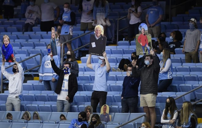 Only 3,262 fans were allowed in the Smith Center on Saturday, but they certainly made a difference, the Tar Heels said.