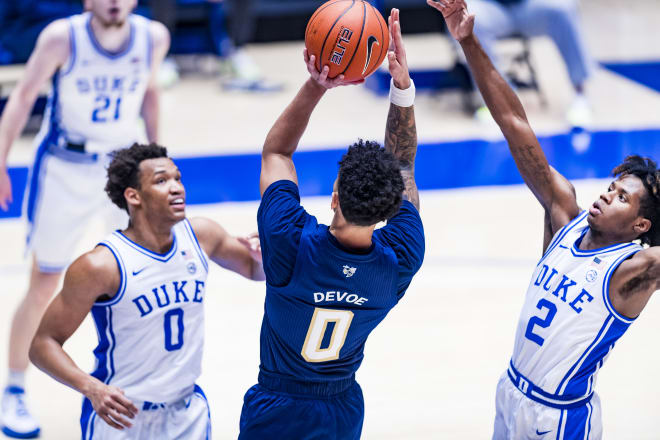 DJ Steward had a strong all-around showing for Duke.