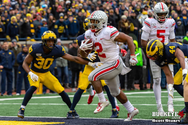 J.K. Dobbins had another impressive game against Michigan.