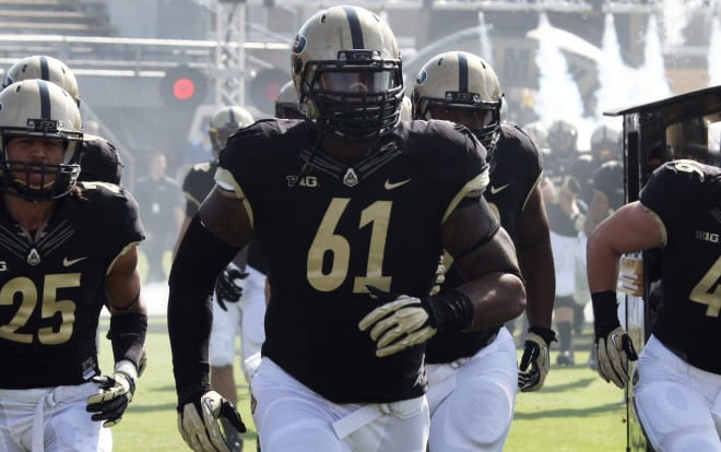 Ryan Isaac was a regular for the Boilermakers at defensive end in 2012 and 2013.