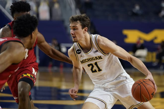 Michigan Wolverines basketball sophomore Franz Wagner and U-M face Florida State Sunday.