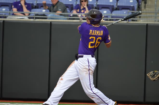 Bryce Harman and East Carolina pick up a game two win over Towson Saturday afternoon.