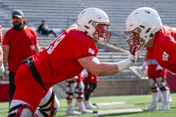 Redshirt freshman Jack Nelson made a big statement this spring and could push for the starting right guard job in 2021.