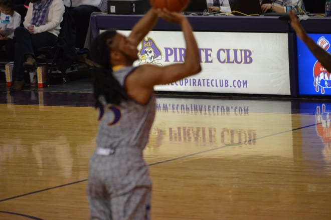 Shawn Williams tossed in a personal best eight three-point jumpers in ECU's overtime loss to Tulsa.