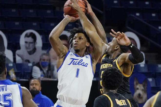 Brandon Rachal led Tulsa with 17 points against Wichita State.