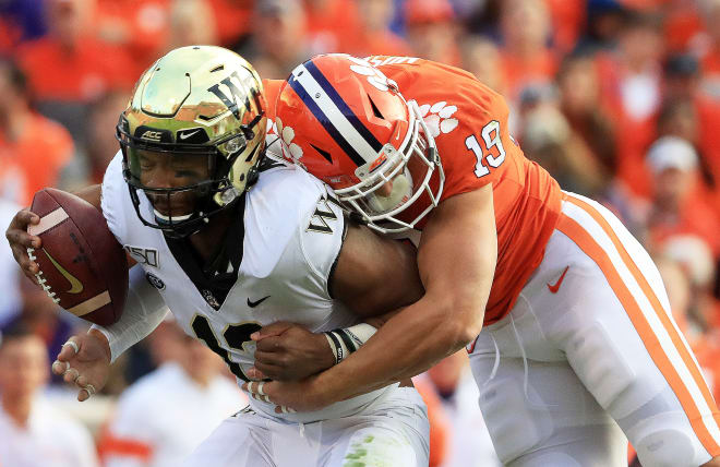 Wake Forest's offense had no answers for Clemson's defense, mustering just over 100 total yards Saturday.