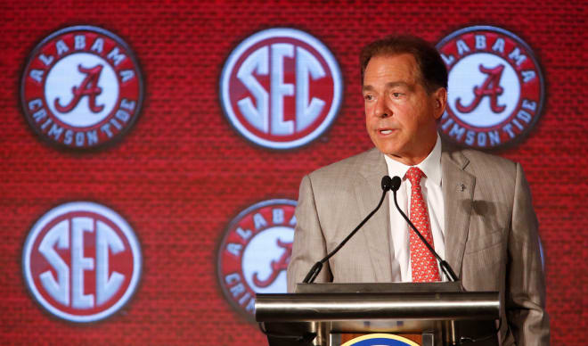 Alabama head coach Nick Saban. Photo | USA Today