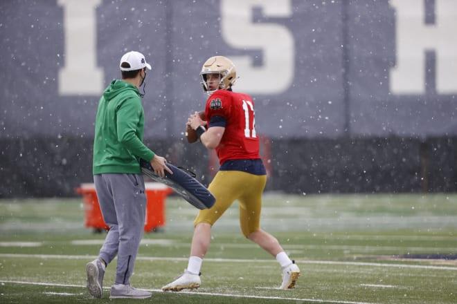 Notre Dame Fighting Irish Football quarterback Jack Coan