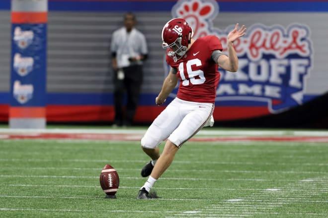 Alabama Crimson Tide kicker Will Reichard. Photo | Getty Images