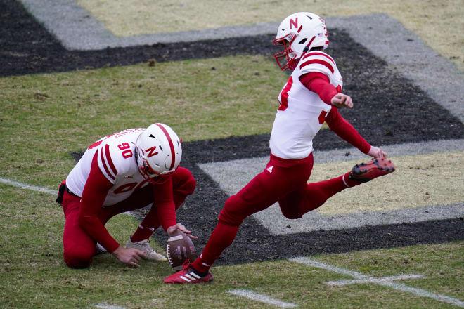 Senior kicker Connor Culp.