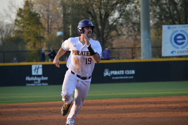 ECU catcher Travis Watkins had a 4 for 4 day including and knocked his fifth homer of the season.