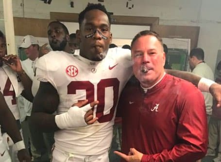 Mack Wilson and Butch Jones