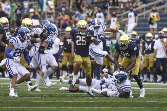 Notre Dame Fighting Irish Football Running Backs Seeing A Growth Spurt