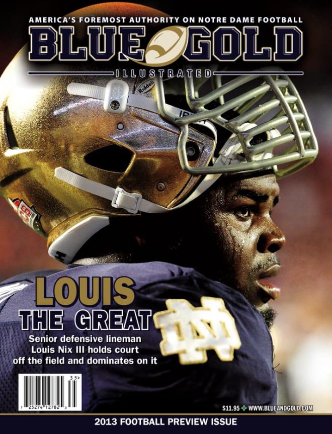 Notre Dame Fighting Irish football defensive lineman Louis Nix III