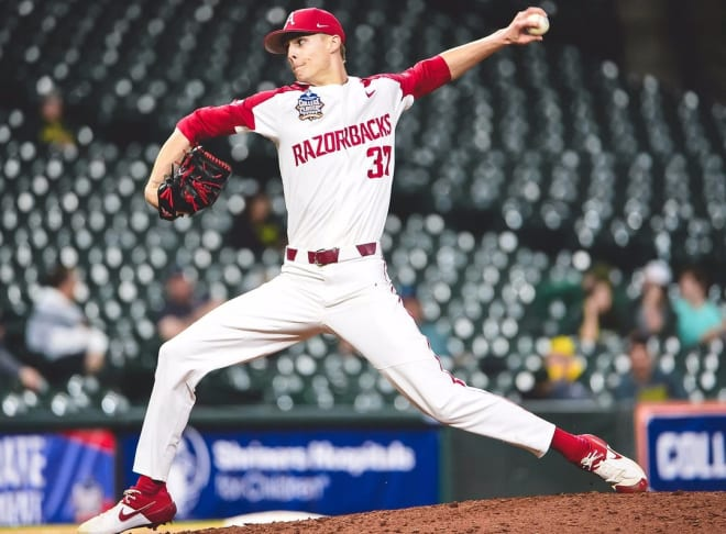 Caden Monke was part of a strong Arkansas bullpen this weekend.