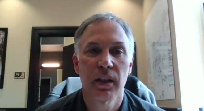 Dave Clawson on Zoom on Wednesday