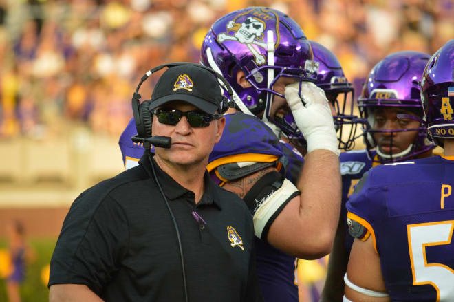 ECU head coach Mike Houston and the Pirates travel to Tampa to take on USF Saturday night at 7 pm.