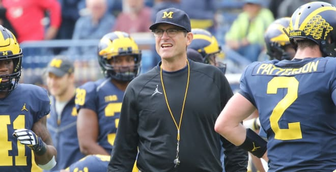 Michigan Wolverines football head coach Jim Harbaugh is excited to start padded practices.