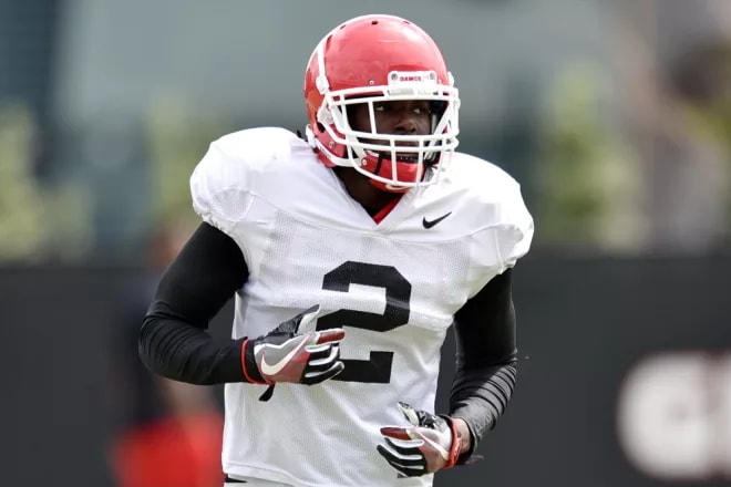 Richard LeCounte will be battling for a starting job at safety this spring.