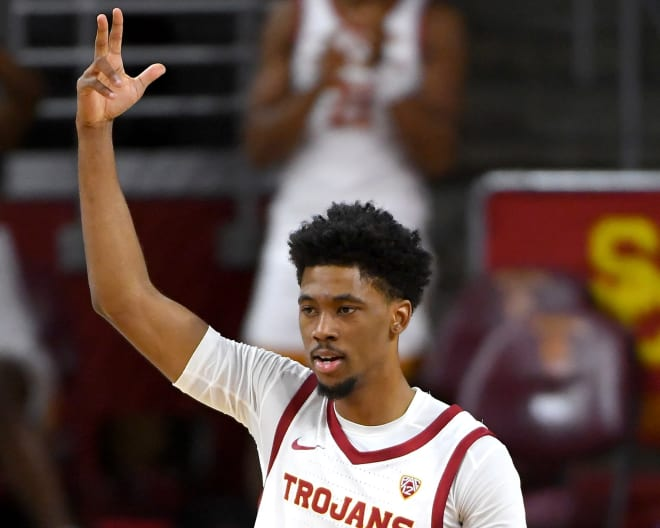Tahj Eaddy scored 21 of his 24 points in the first-half to stake USC to a 21-point lead.