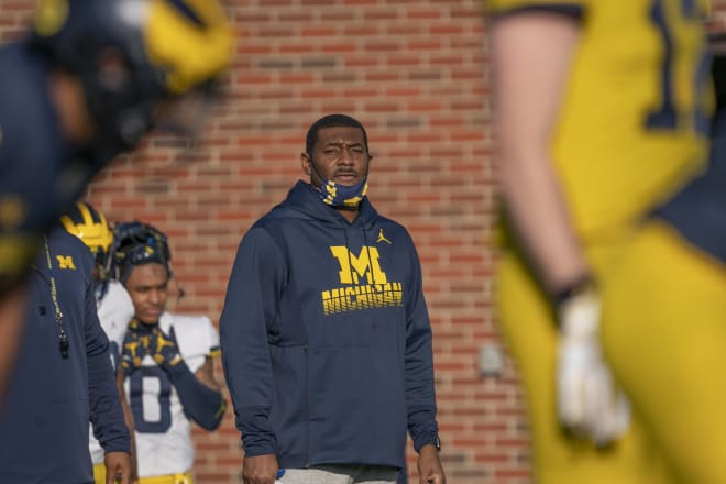 Michigan Wolverines football assistant coach Ron Bellamy led West Bloomfield (Mich.) High to the 2020 state championship.