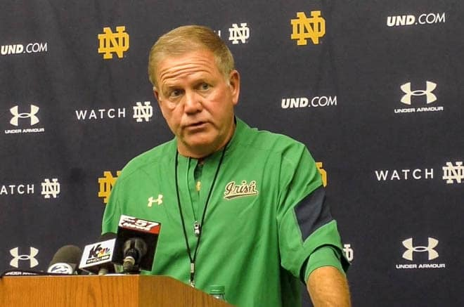 Carolina takes its shot at Brian Kelly's second-ranked Irish in a day after Thanksgiving showdown in Chapel Hill.