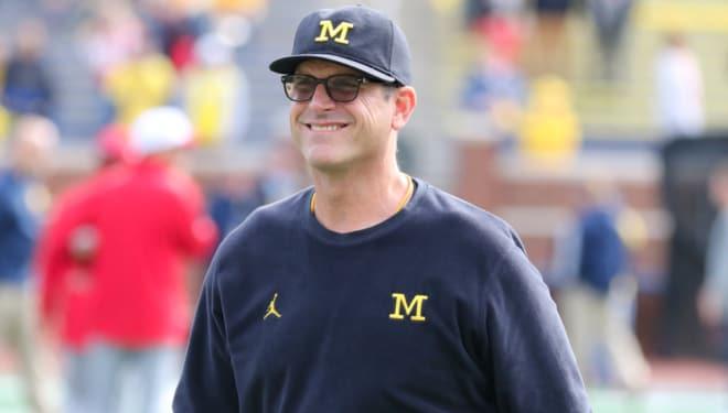 Michigan Wolverines head football coach Jim Harbaugh has won 49 games at U-M.
