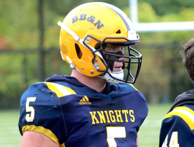 New England linebacker Tyler Martin is committed to Michigan Wolverines football recruiting, Jim Harbaugh.