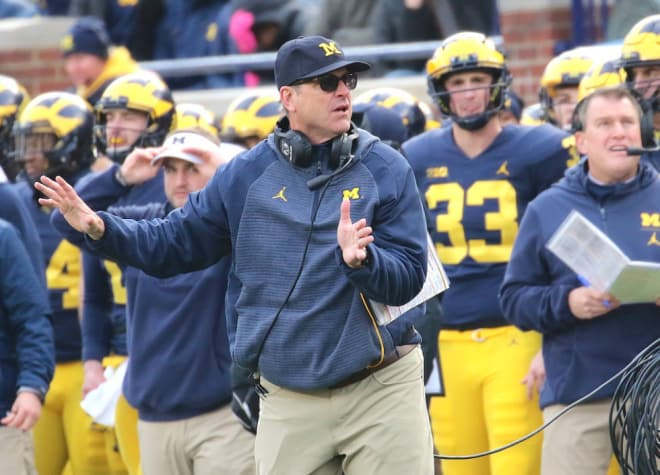 Jim Harbaugh and Michigan are the No.4 team in the country.