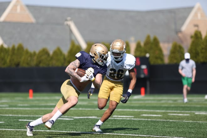 Notre Dame Fighting Irish football senior wide receiver Braden Lenzy