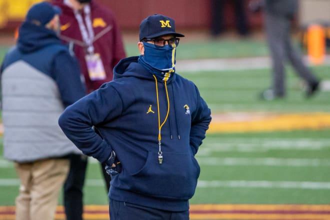 Michigan Wolverines head football coach Jim Harbaugh