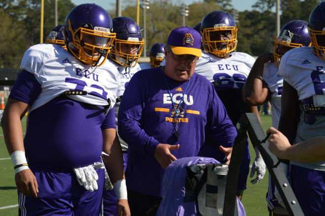 Veteran ECU offensive line coach Steve Shankweiler brings you up to date on what to expect along the offensive front.