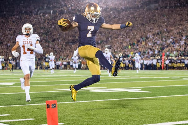Former Notre Dame and current Miami Dolphins wide receiver Will Fuller V