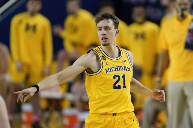 Former Michigan Wolverines basketball wing Franz Wagner was projected to be picked by the Sacramento Kings at No. 9 overall.