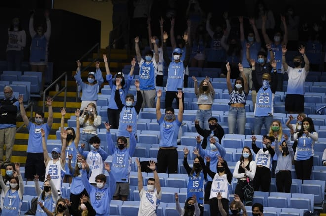 UNC fans made plenty of noise Saturday even though only 3,263 could attend the game.