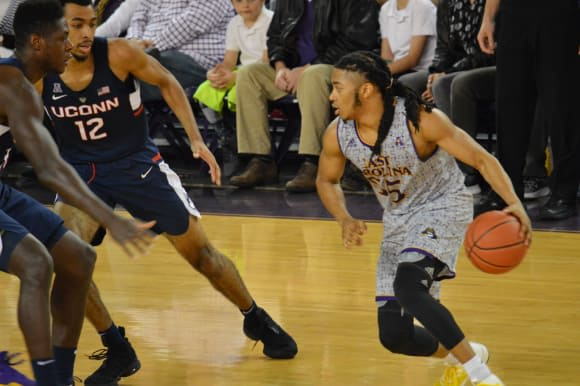 Shawn Williams led ECU with 26 points but it wasn't enough as UConn held on for an 84-80 win in Minges Coliseum.